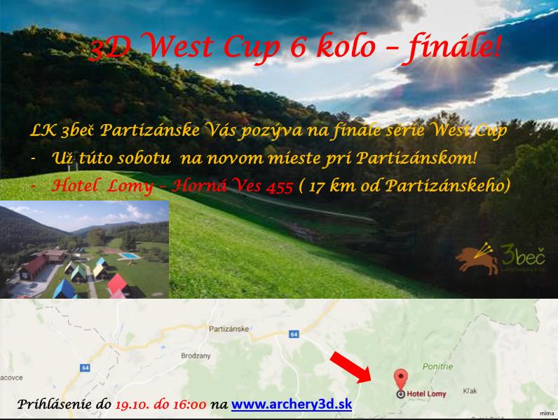 Pozvánka na finále West cupu 2017